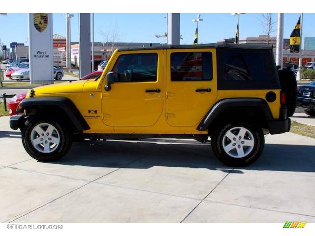 2008 Detonator Yellow Jeep Wrangler Unlimited X 4x4 2495148