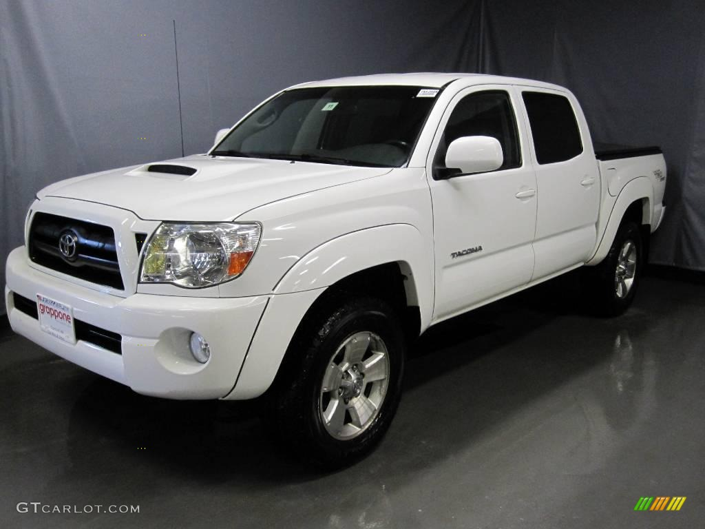 2005 super white toyota tacoma v6 trd sport double cab 4x4 25062924 car color. Black Bedroom Furniture Sets. Home Design Ideas