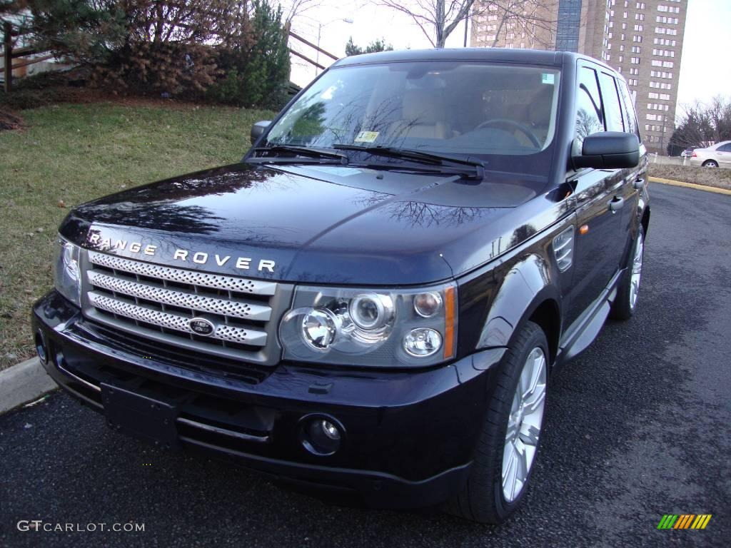 2008 buckingham blue metallic land rover range rover sport. Black Bedroom Furniture Sets. Home Design Ideas