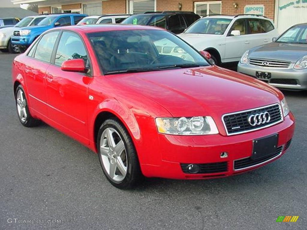 2004 brilliant red audi a4 1 8t quattro sedan 25063162 photo 6 car color. Black Bedroom Furniture Sets. Home Design Ideas