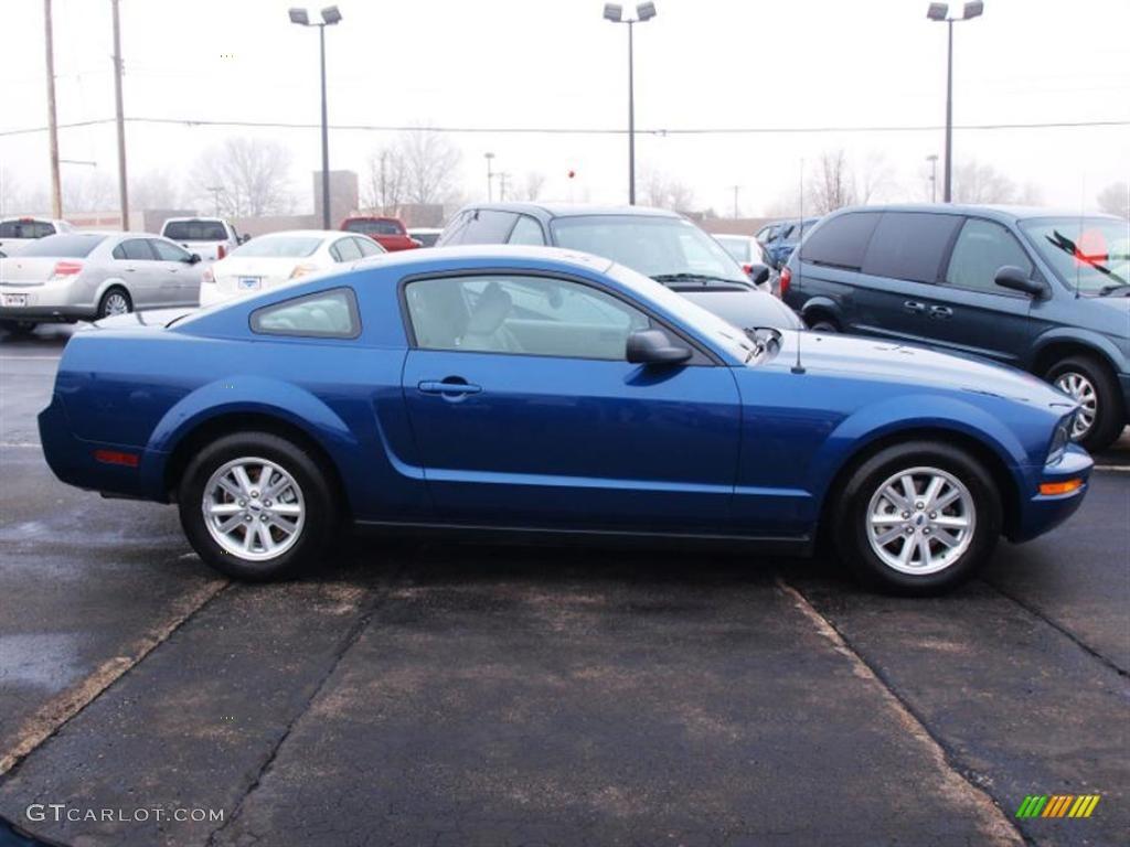 2007 Mustang V6 Deluxe Coupe - Vista Blue Metallic / Light Graphite photo #1