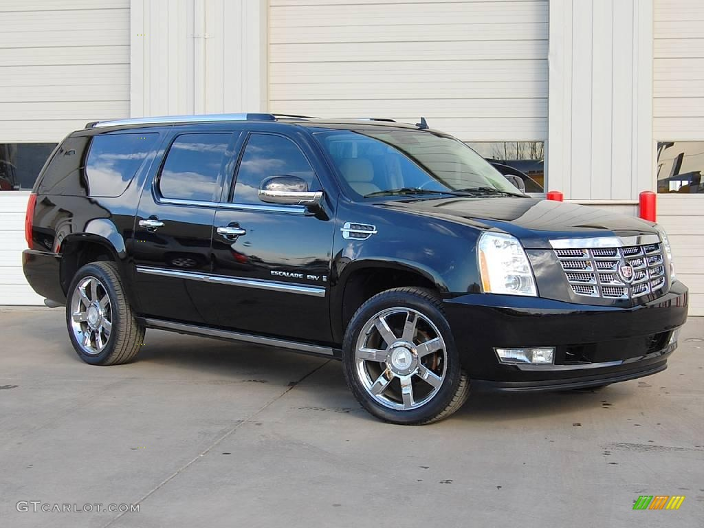 2008 black raven cadillac escalade esv awd 25062312. Black Bedroom Furniture Sets. Home Design Ideas