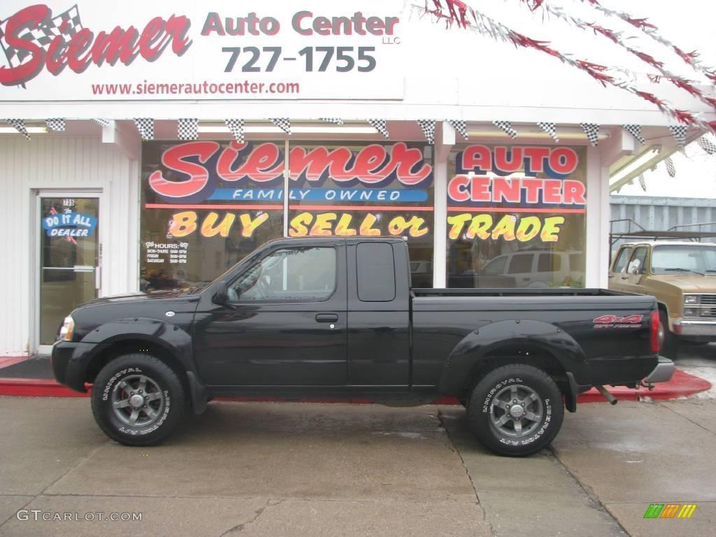 2004 super black nissan frontier xe v6 king cab 4x4 25062822 2004 frontier xe v6 king cab 4x4 super black charcoal photo 1 vanachro Images
