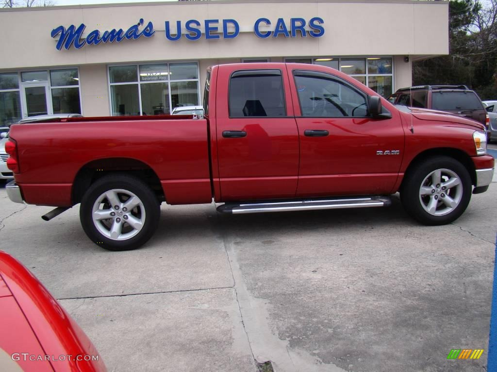 2008 Ram 1500 Big Horn Edition Quad Cab - Blaze Red Crystal Pearl / Medium Slate Gray photo #1
