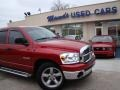 2008 Blaze Red Crystal Pearl Dodge Ram 1500 Big Horn Edition Quad Cab  photo #33