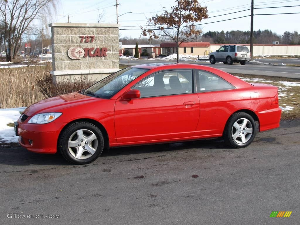2005 rallye red honda civic ex coupe 25062897 gtcarlot. Black Bedroom Furniture Sets. Home Design Ideas