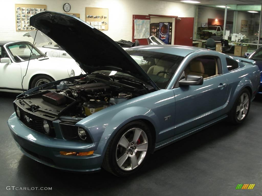2007 Mustang GT Premium Coupe - Windveil Blue Metallic / Medium Parchment photo #1