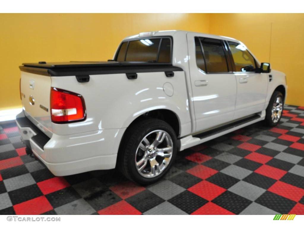 2008 white suede ford explorer sport trac adrenalin 4x4 25063042 photo 7 car. Black Bedroom Furniture Sets. Home Design Ideas