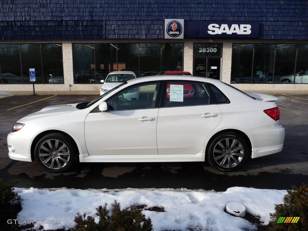 2010 Satin White Pearl Subaru Impreza Wrx Sedan 25063219