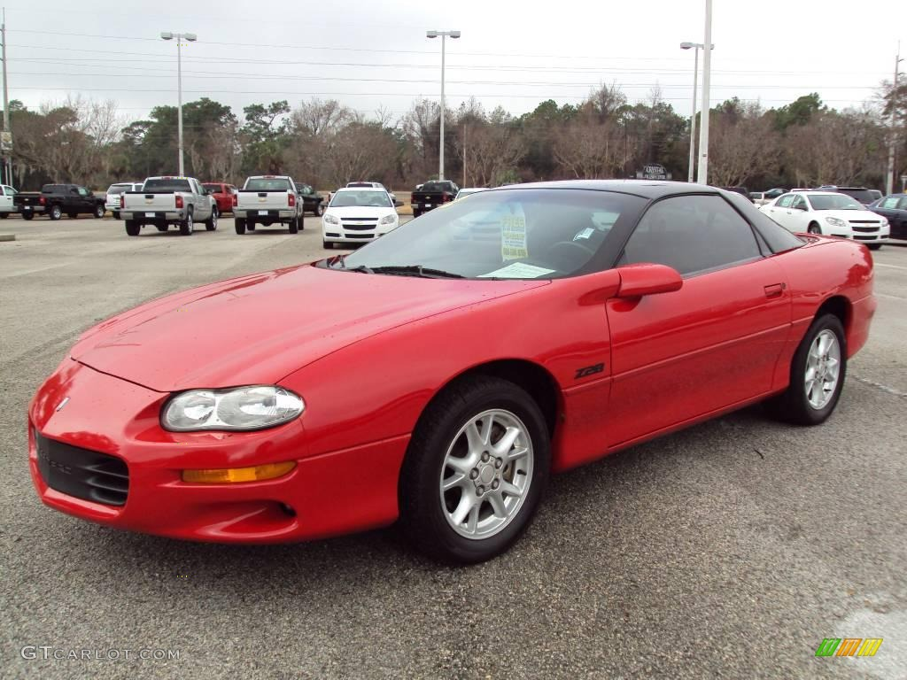 2002 bright rally red chevrolet camaro z28 coupe #25063315