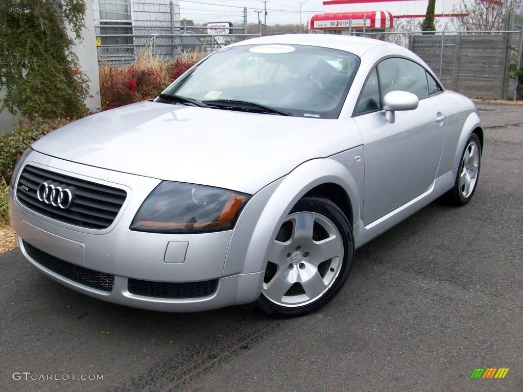 2002 lake silver metallic audi tt 1 8t quattro coupe. Black Bedroom Furniture Sets. Home Design Ideas