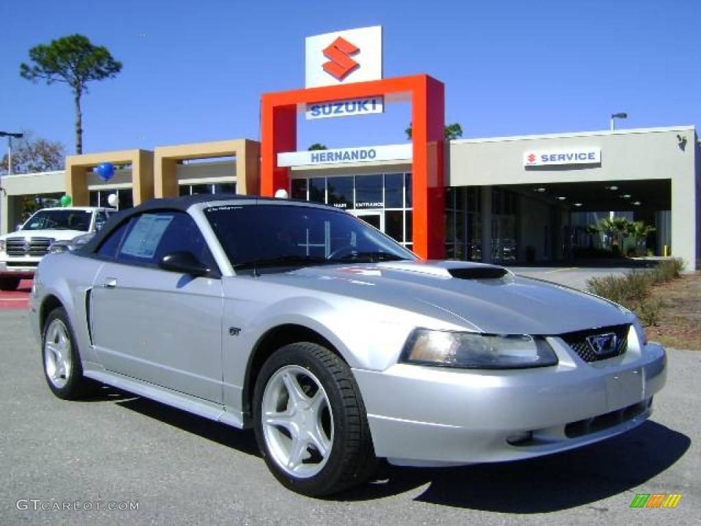 2001 Mustang GT Convertible - Silver Metallic / Medium Graphite photo #1