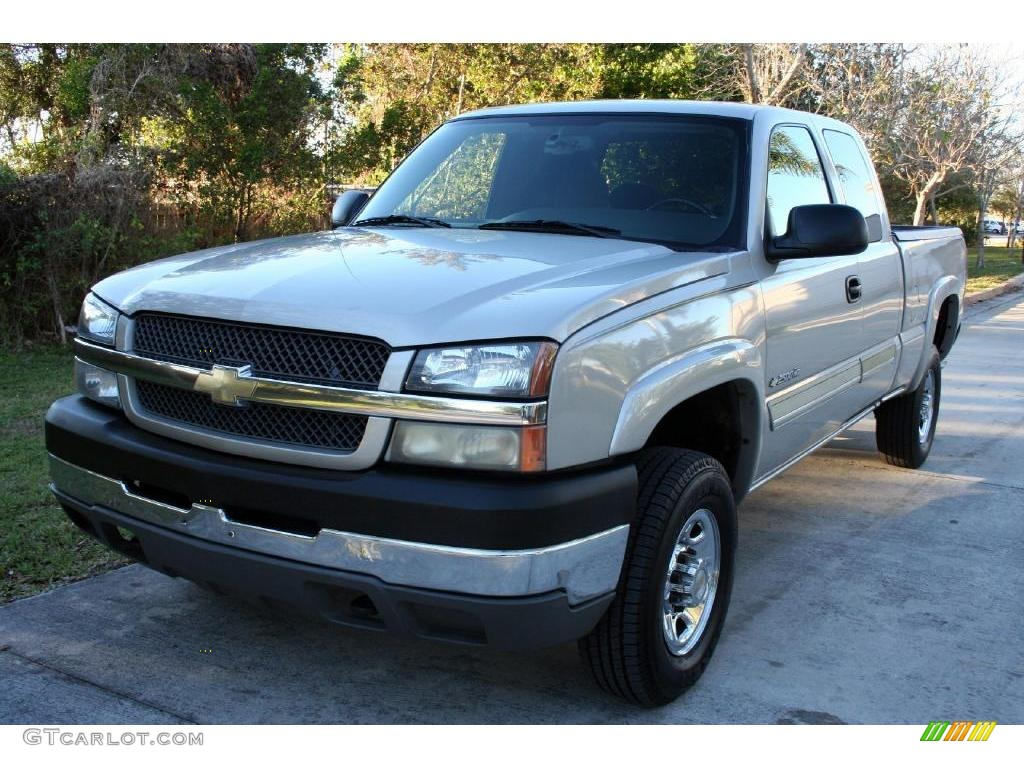 2004 silver birch chevrolet silverado 2500hd ls extended. Black Bedroom Furniture Sets. Home Design Ideas