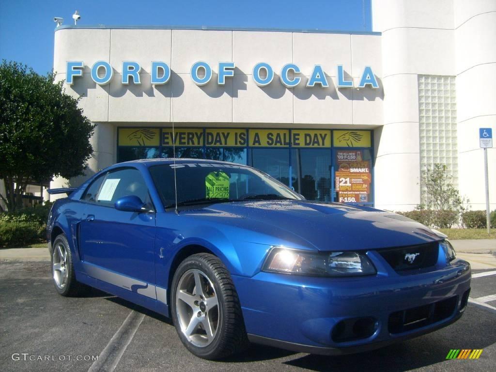 2003 Mustang Cobra Coupe - Sonic Blue Metallic / Dark Charcoal photo #1