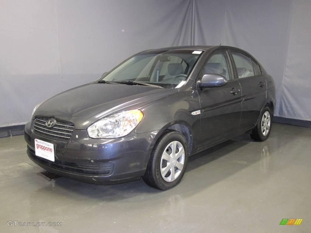 2007 charcoal gray hyundai accent gls sedan 25146191