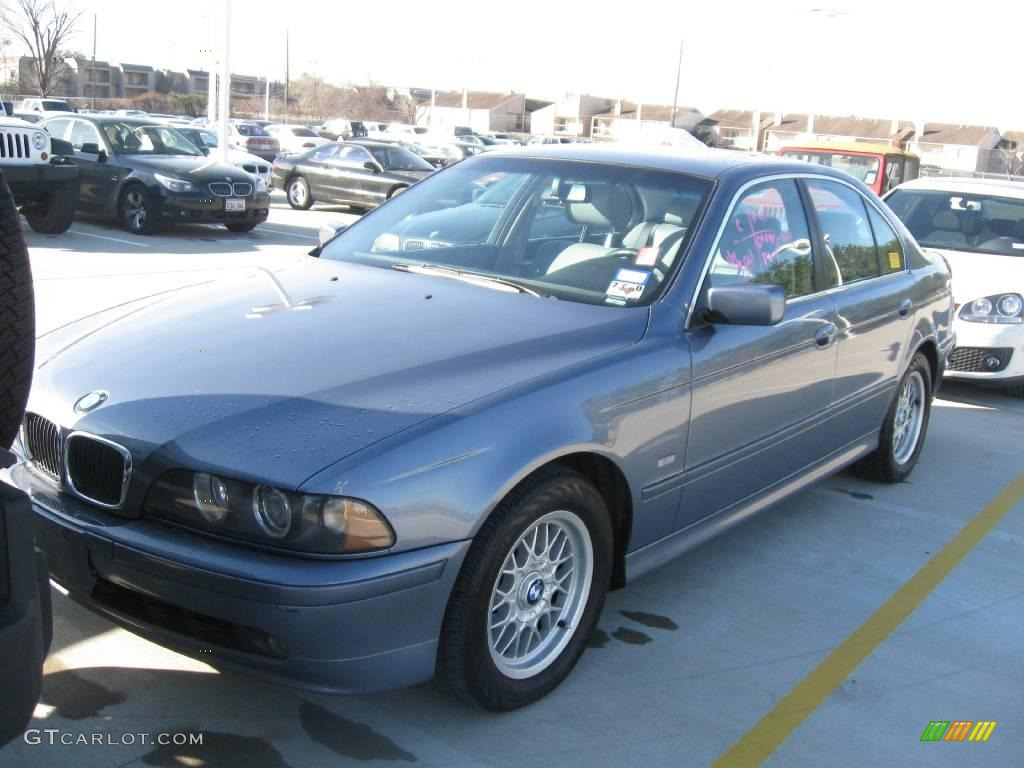 2001 steel blue metallic bmw 5 series 525i sedan #25146207