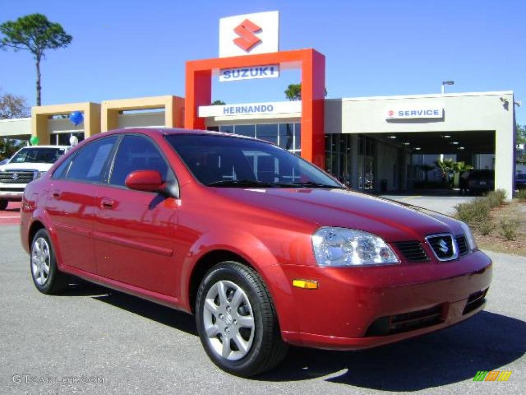 Fusion red metallic suzuki forenza