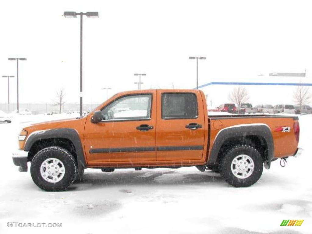 2007 sunburst orange metallic chevrolet colorado lt crew cab 4x4