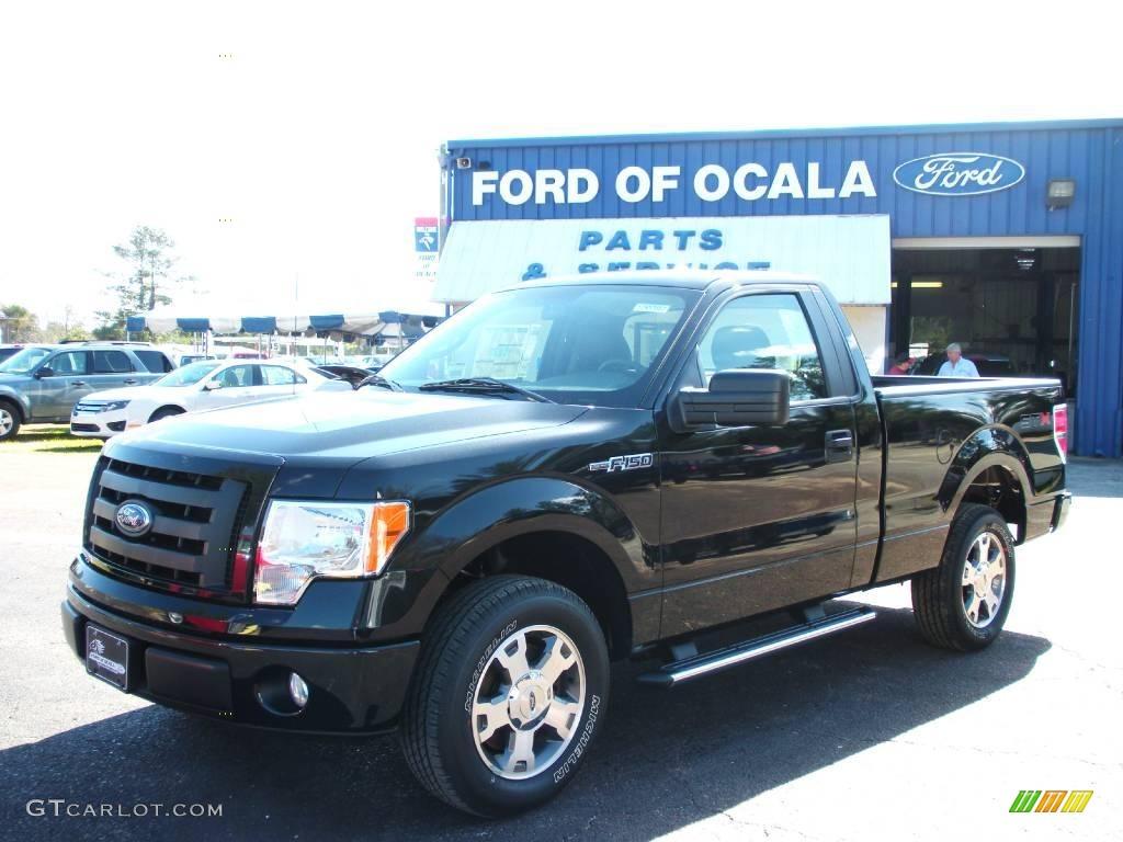 2010 tuxedo black ford f150 stx regular cab 25195987 car color galleries. Black Bedroom Furniture Sets. Home Design Ideas