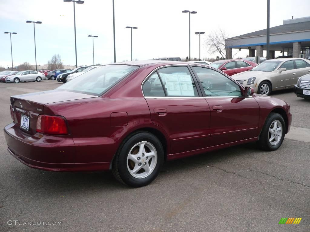 2003 Galant ES   Ultra Red Pearl / Gray Photo #6