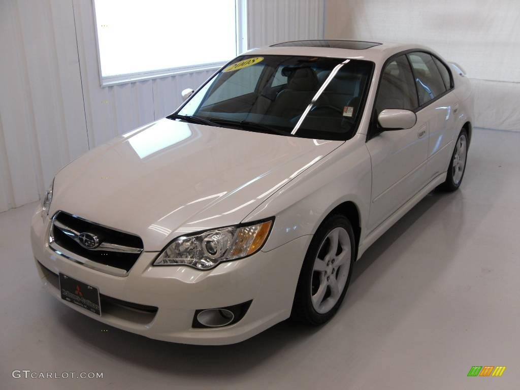 2008 satin white pearl subaru legacy 2.5i limited sedan #25196361