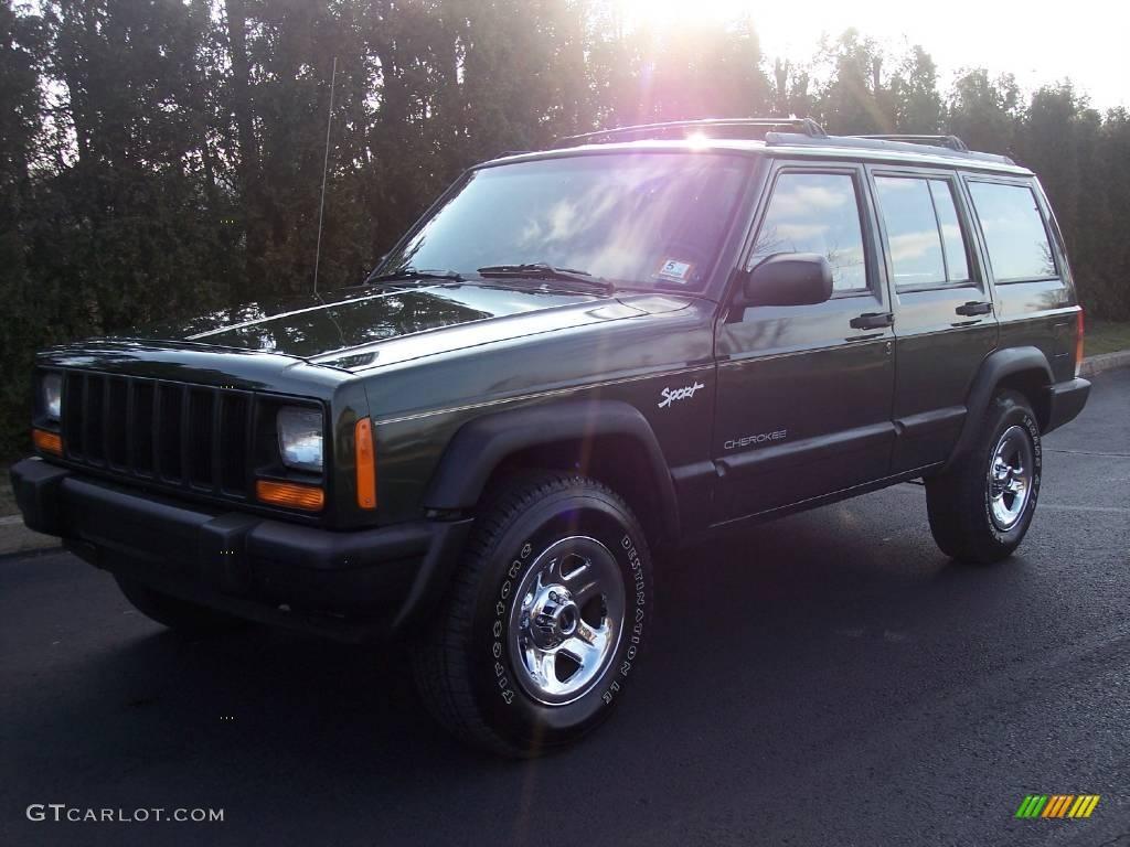 1997 jeep cherokee sport moss green pearlcoat color tan interior 1997