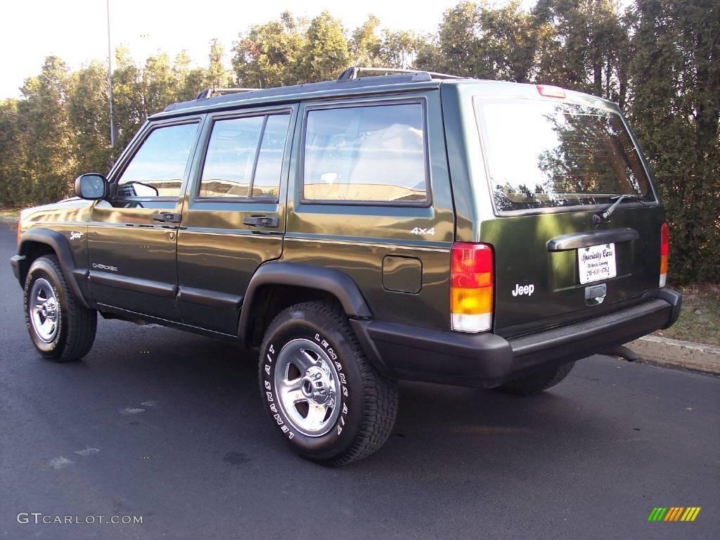 1997 Moss Green Pearlcoat Jeep Cherokee Sport 25247664 Photo 7 Car Color