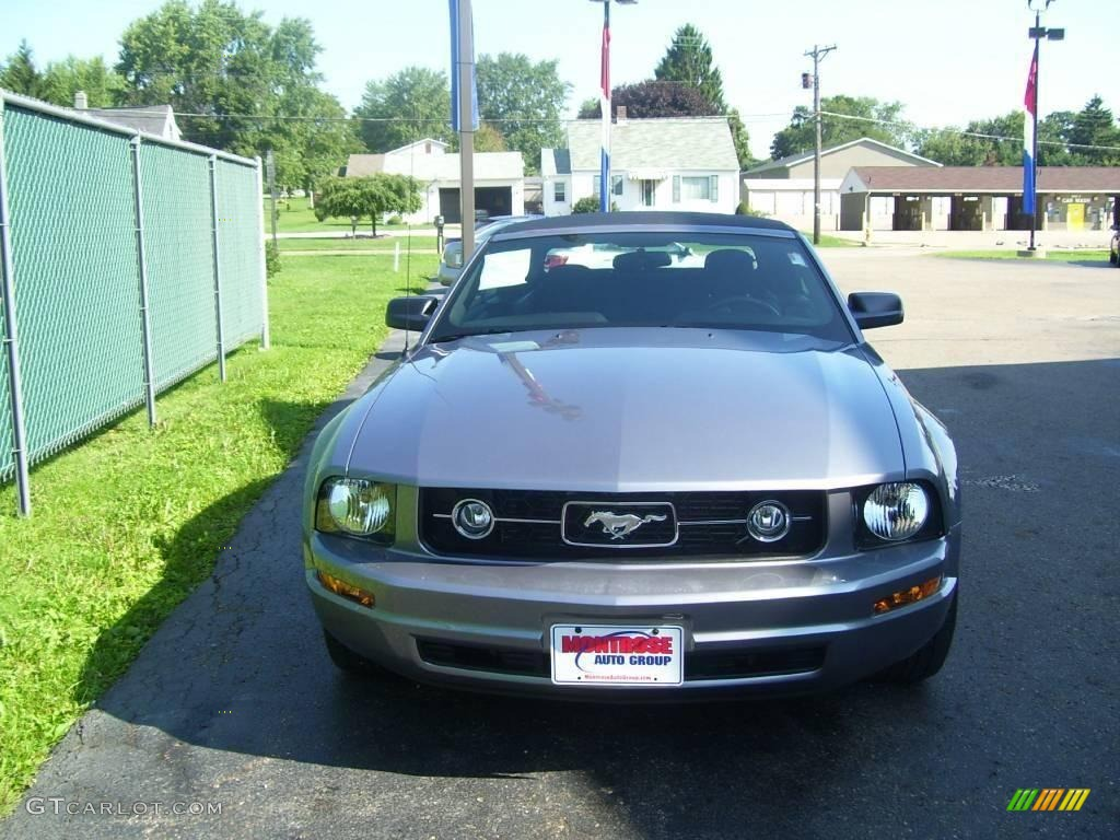 2007 Mustang V6 Premium Convertible - Windveil Blue Metallic / Black/Dove Accent photo #1