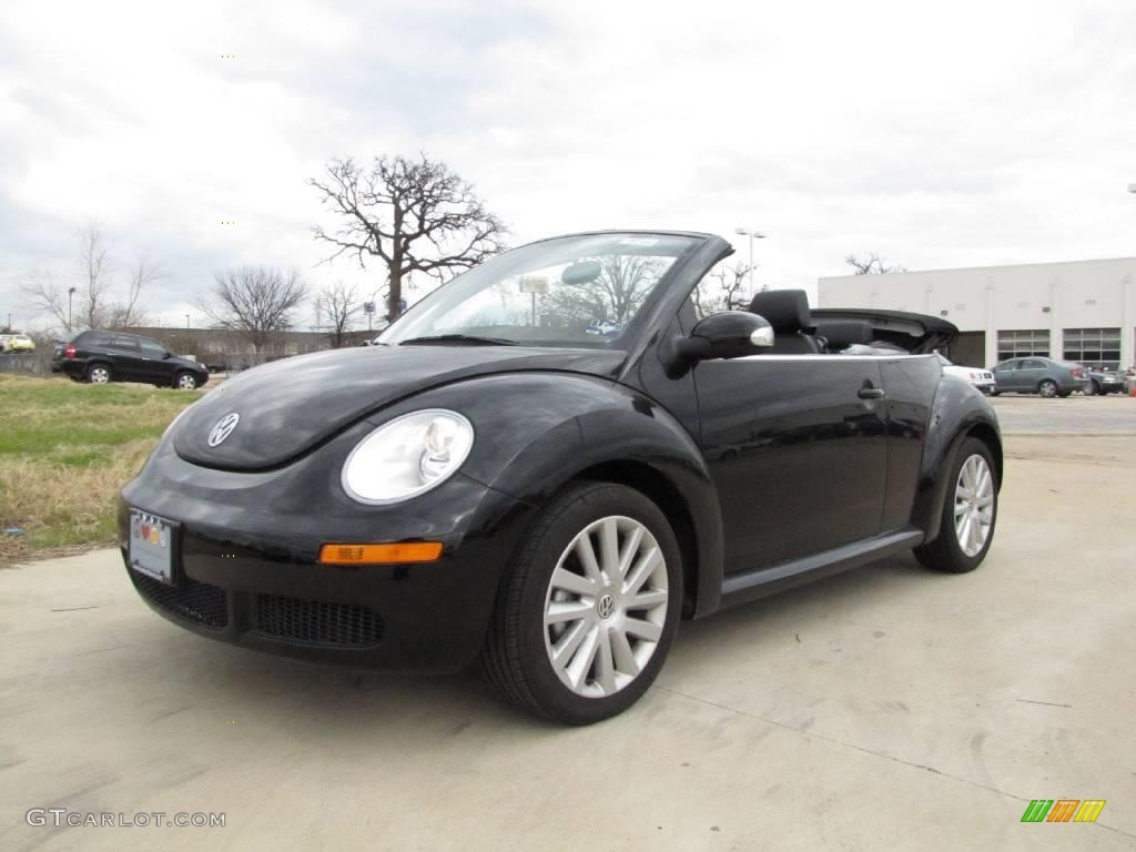black volkswagen  beetle  convertible  gtcarlotcom car color galleries