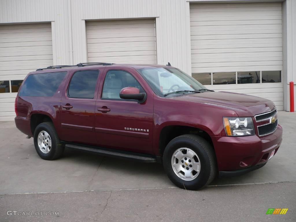 2008 deep ruby metallic chevrolet suburban 1500 lt 4x4 25247424 car color. Black Bedroom Furniture Sets. Home Design Ideas