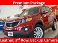 2011 Spicy Red Kia Sorento EX  photo #1