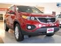 2011 Spicy Red Kia Sorento EX  photo #10