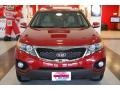 2011 Spicy Red Kia Sorento EX  photo #11