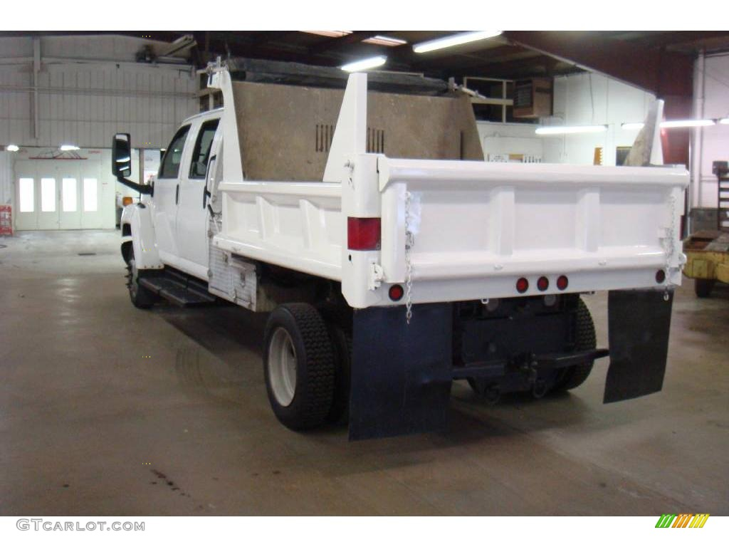 2004 C Series Kodiak C4500 Crew Cab Utility Dump Truck - Summit White / Black photo #6