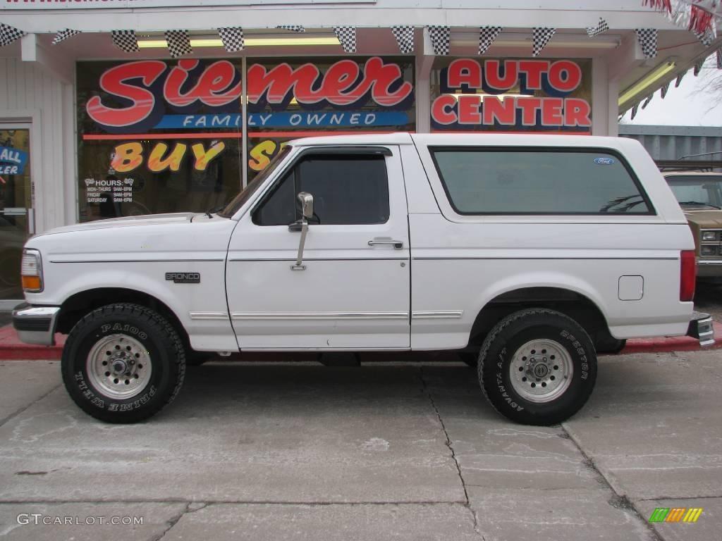 Oxford White Ford Bronco