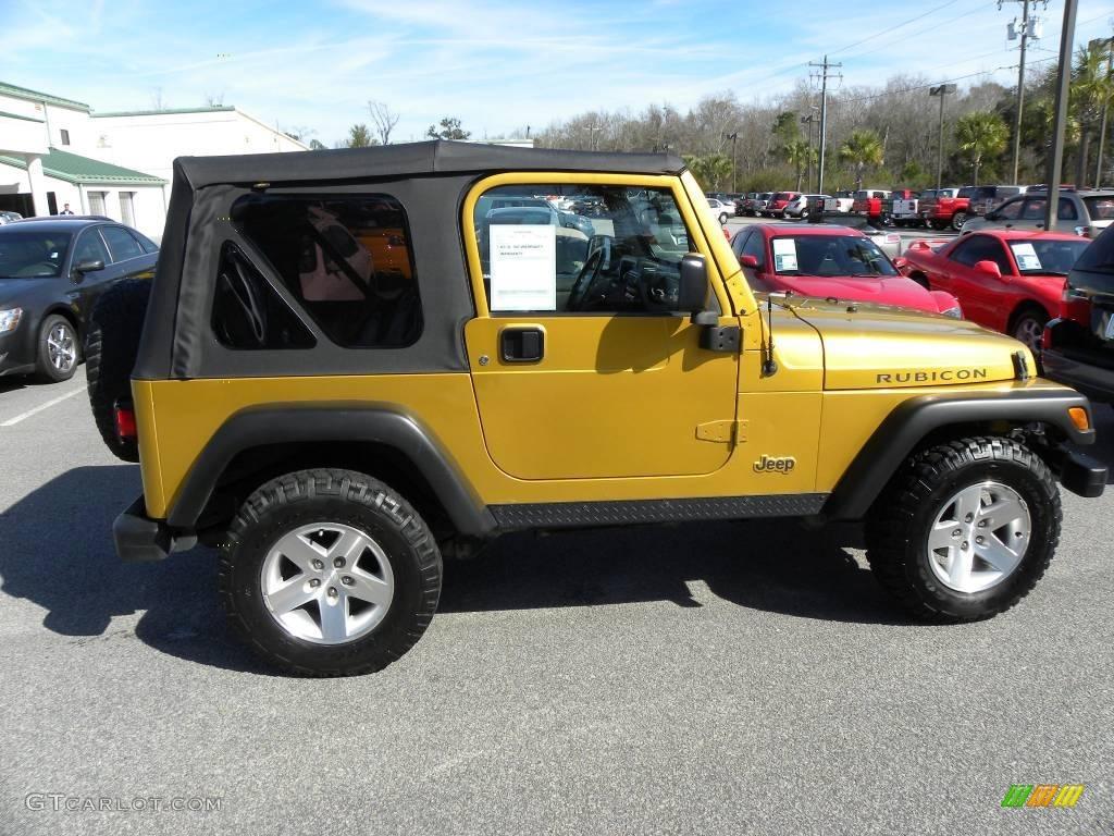2003 Inca Gold Metallic Jeep Wrangler Rubicon 4x4 #25300062 Photo #9