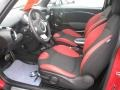 Black/Rooster Red Interior Photo for 2009 Mini Cooper #25333718