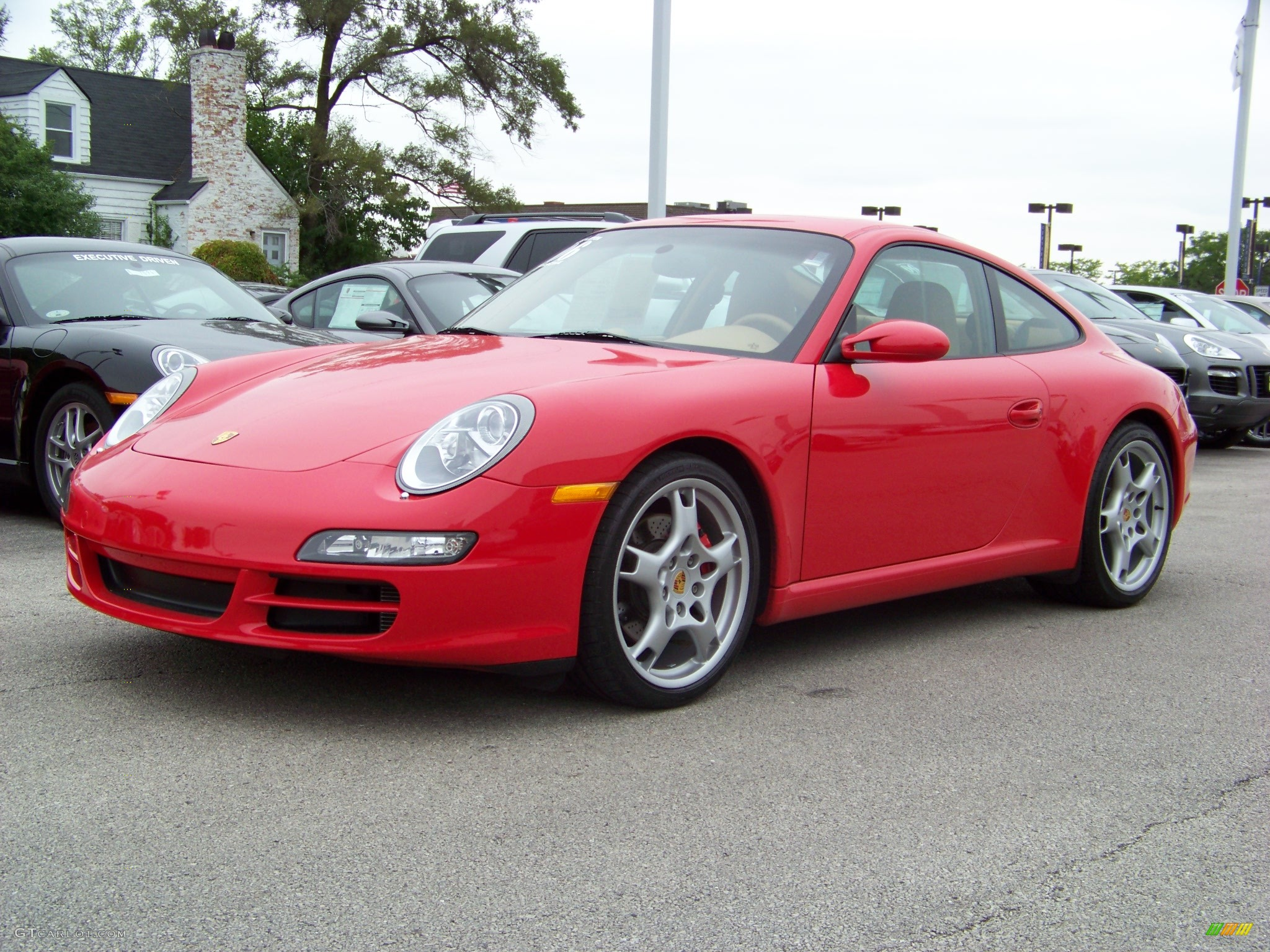 2006 guards red porsche 911 carrera s coupe 242047. Black Bedroom Furniture Sets. Home Design Ideas