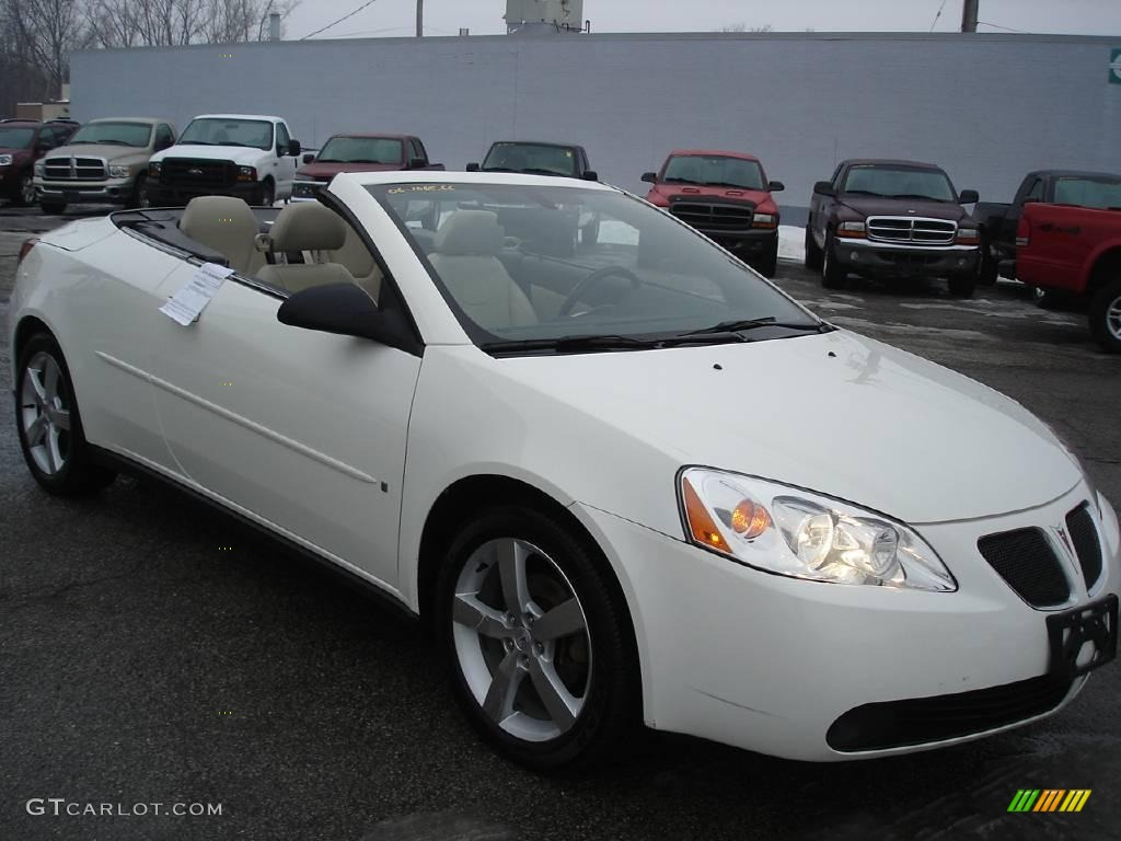 2006 pontiac g6 gt convertible ivory white color light taupe. Black Bedroom Furniture Sets. Home Design Ideas
