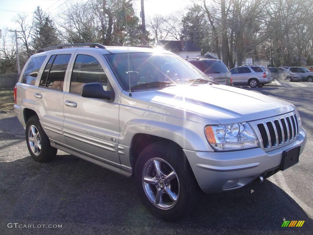 2002 bright silver metallic jeep grand cherokee overland. Black Bedroom Furniture Sets. Home Design Ideas