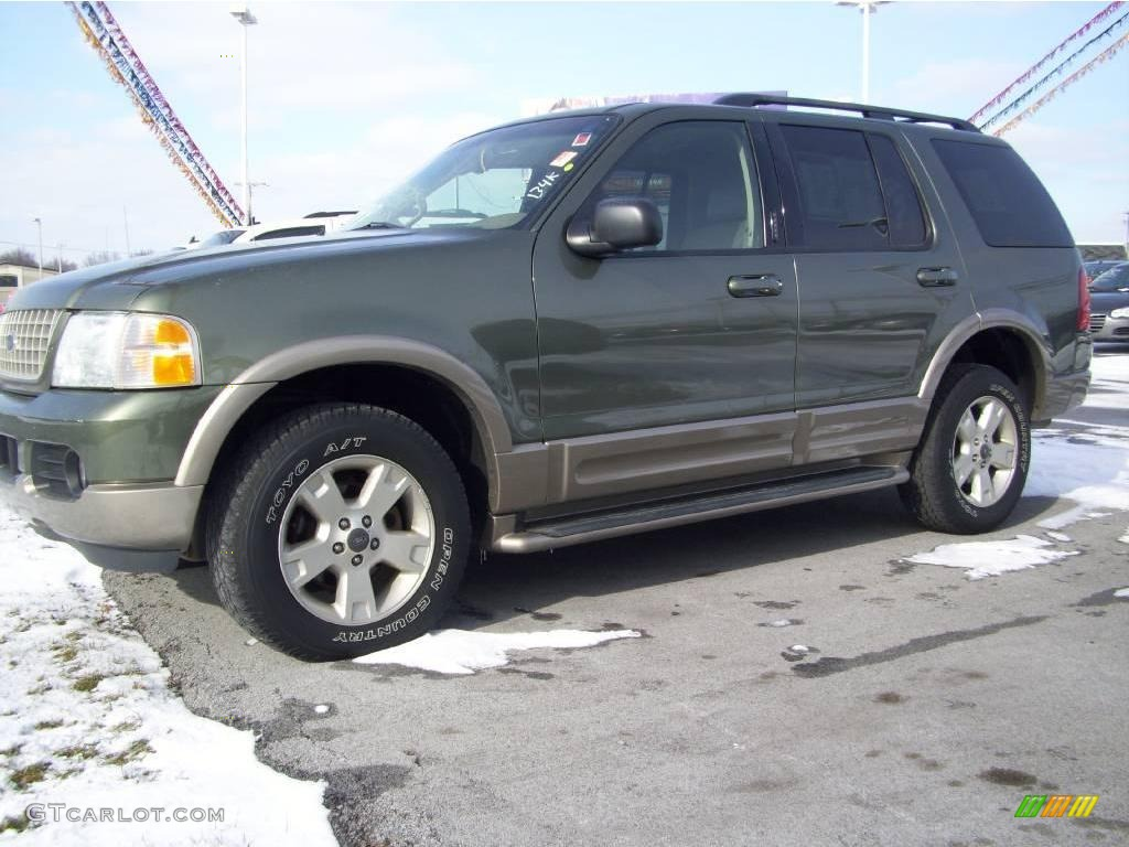 2003 estate green metallic ford explorer eddie bauer 4x4 25352345 car color. Black Bedroom Furniture Sets. Home Design Ideas