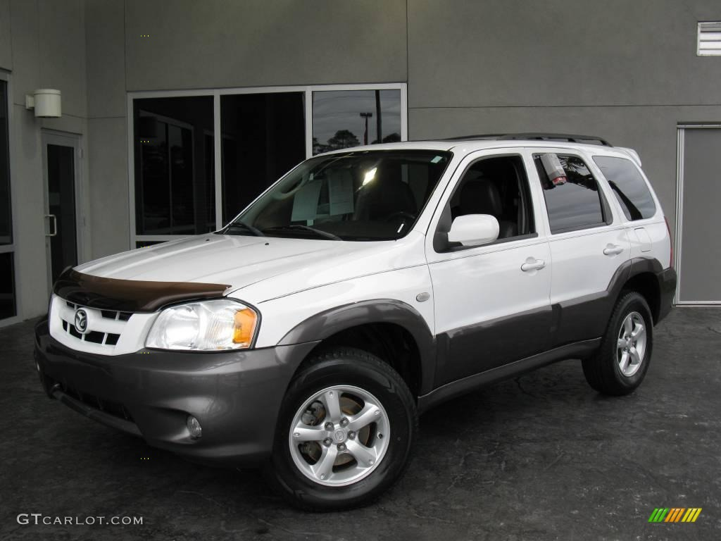 2005 Classic White Mazda Tribute s #25352371 Photo #12 ...