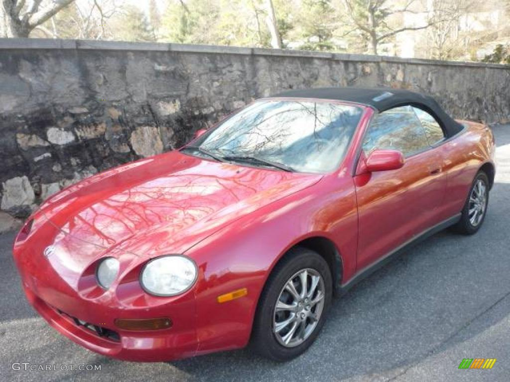 1995 renaissance red toyota celica gt convertible 2535575. Black Bedroom Furniture Sets. Home Design Ideas