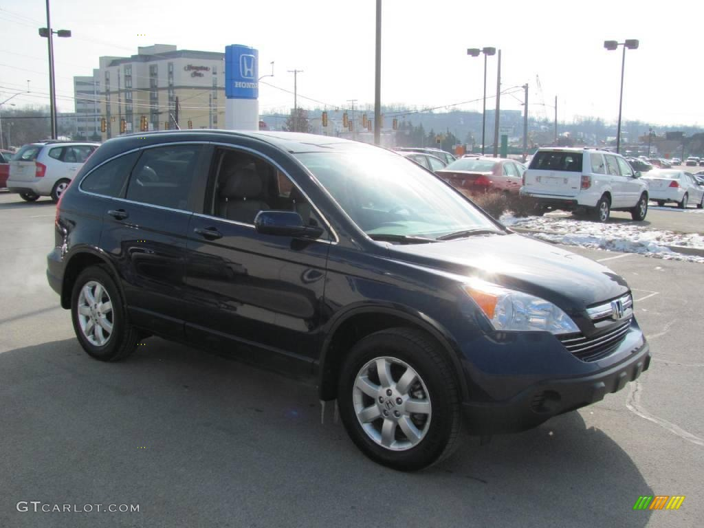 2008 CR-V EX-L 4WD - Royal Blue Pearl / Gray photo #6