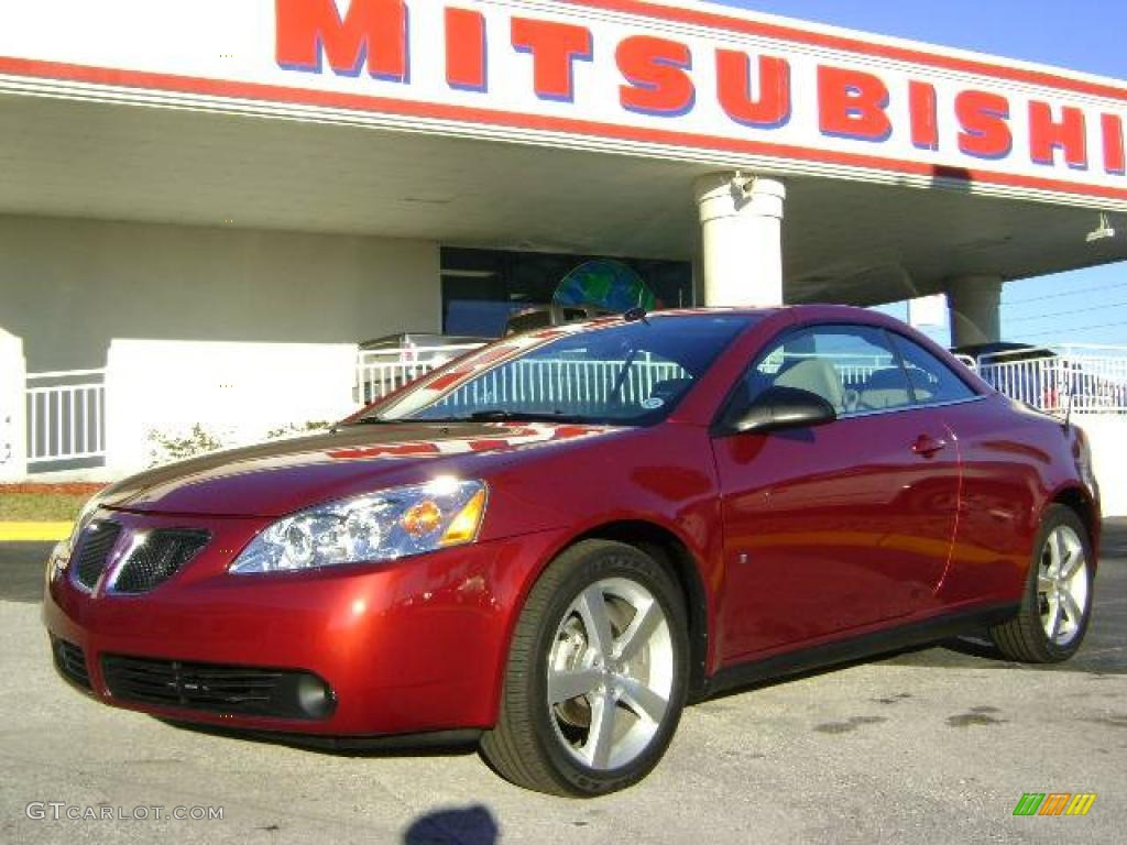 2009 Performance Red Metallic Pontiac G6 Gt Convertible 2536487 Gtcarlot Com Car Color