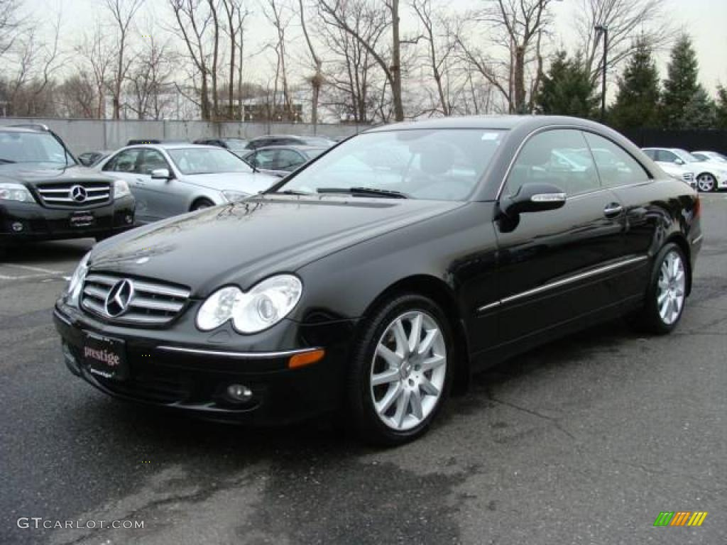 2007 clk 350 coupe black black photo 1