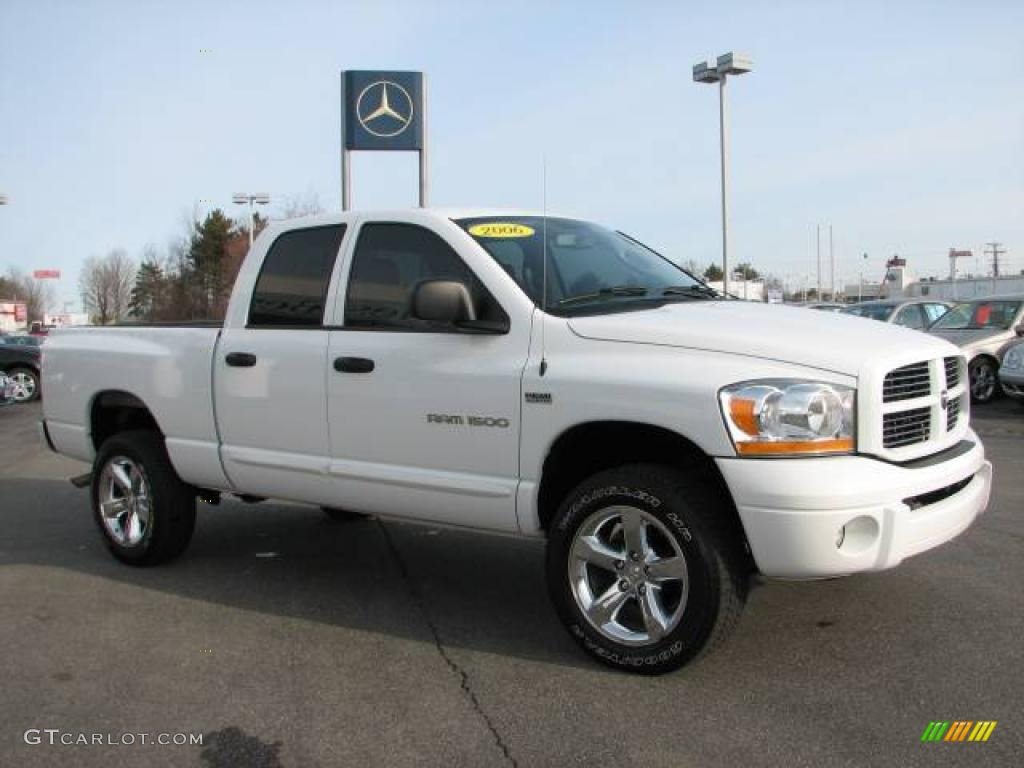 2006 bright white dodge ram 1500 sport quad cab 4x4 25501054 photo 3 car. Black Bedroom Furniture Sets. Home Design Ideas