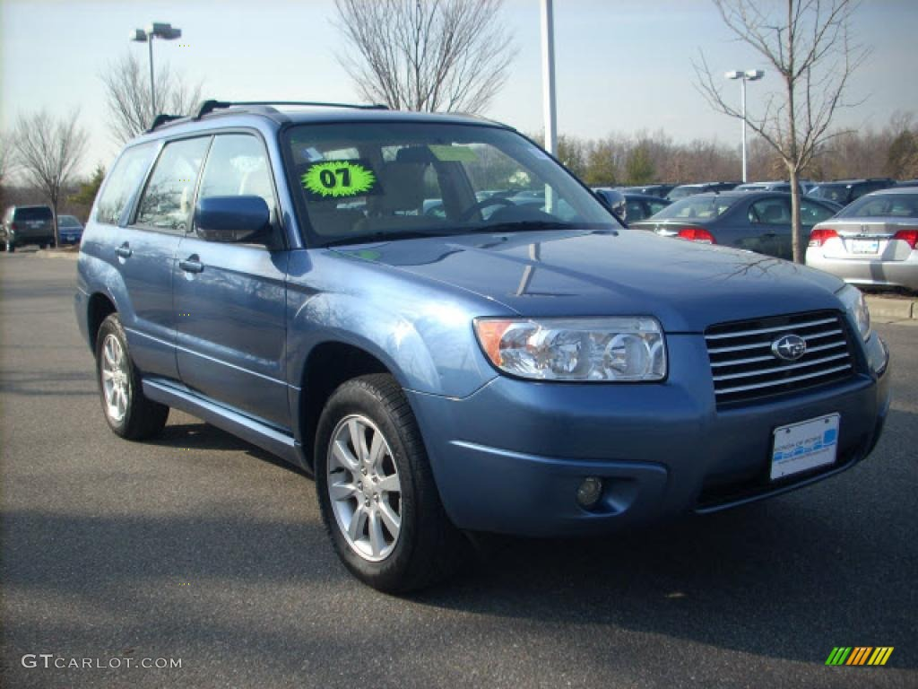 2007 Newport Blue Pearl Subaru Forester 2 5 X Premium