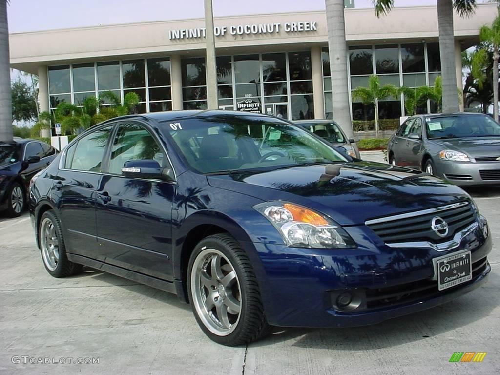 2007 Majestic Blue Metallic Nissan Altima 3.5 SE #25537586 Photo #7 ...