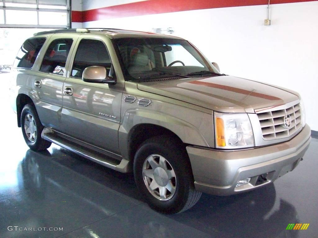 2002 escalade awd silver sand shale photo 1